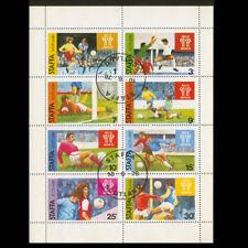 Staffa Scotland Gb Uk Local Mini-Sheet Of 8 1978 Football Soccer