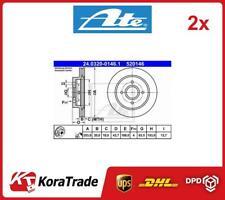 2x 24-0320-0146-1 ATE OE QUALITY BRAKE DISC SET