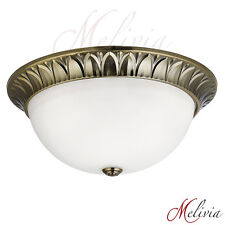 plafonnier Ø38 laiton or blanc verre lampe plafond suspension