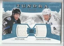 2011/12 UD ARTIFACTS GAGNE / LECAVALIER TUNDRA TANDEMS DUAL GAME JERSEY /225