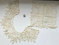 Lot of 3 Vintage Linens Crochet Doily Lace Trim w/ Au Petit Moulin Thread