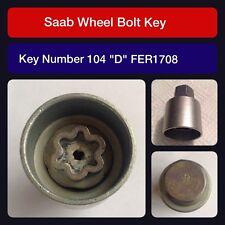 "Genuine Saab locking wheel bolt / nut key FER 1708 104 ""D"""
