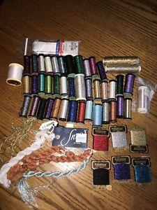 Kreinik Metallic Thread Plus  -Lot Of 44 PCs- Blending Filament Heavy-Very Fine