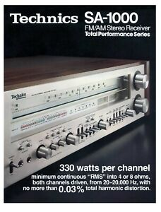 Paper COPY of rare brochure for the vintage Technics SA-1000 monster receiver