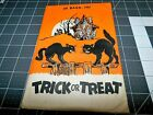 1 Vintage Halloween Paper TREAT Bag Sack DUELING CATS  ~ Package ***  ONLY  JOL