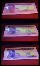 UKRAINE 1, 3, 5 KARBOVANTSIV 1991 UNC OVERPRINT! Ukrainian Coupon Banknotes