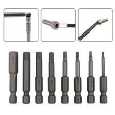 8pc Magnetic Hex Head Long Allen Bit Set Quick Connect Shank impact driver drill