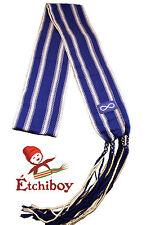 Metis Sash Etchiboy Ceinture Fléchée Blue Métis Flag Drapeau Métis Alpaca Large