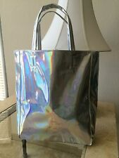 Hologram Metallic Silver Harajuku Kawaii Retro Tote Bag Handbag
