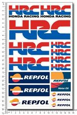 HRC Repsol Honda Racing motorcycle decals 16 stickers set cbr rr Laminated