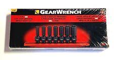 "GearWrench 7 pc 3/8"" Drive Deep Universal Impact SAE Socket Set 6 Point 84923N"