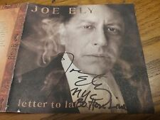 Joe Ely Autographed Cd Letter To Laredo
