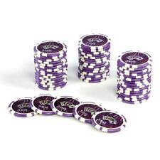 50 Poker-Chips Wert 500 lila Laserchip 12g Metallkern Jetons Coin f. Pokerkoffer