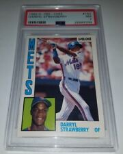1984 O-PEE-CHEE #182 DARRYL STRAWBERRY ROOKIE CARD RC PSA 7 NM NEAR MINT METS