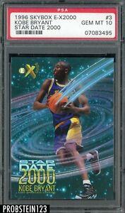 1996-97 SkyBox E-X2000 Star Date Kobe Bryant RC Rookie Lakers PSA 10 GEM MINT