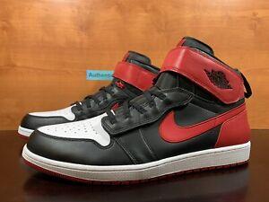Air Jordan 1 High FlyEase 'Bred' Mens Size 18 Red Black White Sneaker CQ3835 001