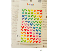 Heart 3D Stickers Rainbow colur Love Scrapbook diary Cardmaking DIY