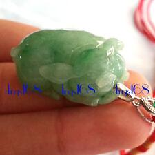 Certified 100% Natural A Jade Jadeite Green Aplex Lady Men Pendant Necklace JD56