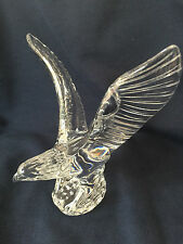WATERFORD Fred Curtis Crystal EAGLE HAWK BIRD Sculpture Mint Cond.!!