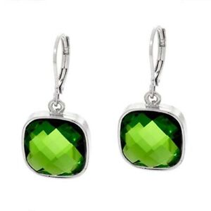 QVC Joan Rivers Crystal Peridot Jewel Drop Lever Back Earrings SOLD OUT $99