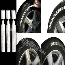 3pc White Paint Pen Marker Waterproof Permanent Car Tire Lettering Rubber Letter