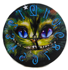 Cheshire Cat Grin Clock, Backwards movement,  Alice in Wonderland home Decor