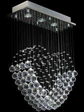 Lustre en Cristal Coeur Moderne Ceiling Light pluie Droplets Plafonniers Lustre