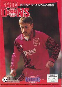 Aberdeen Home Programmes Season 1994-1995