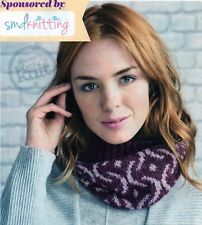 ~ Knit & Crochet Pattern For Lady's Fair Isle Cowl, Throw & Snowman Bunting ~
