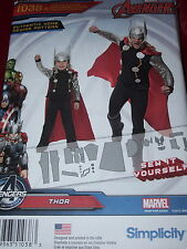 SIMPLICITY #1038-FATHER & SON MARVEL AVENGERS-THOR COSTUME PATTERN 3-8 & S-XL uc