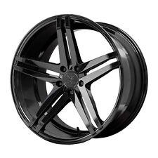 22x9/10.5 Verde Parallax 5x115 +20/25 Black Rims Wheels Brand New (Set)
