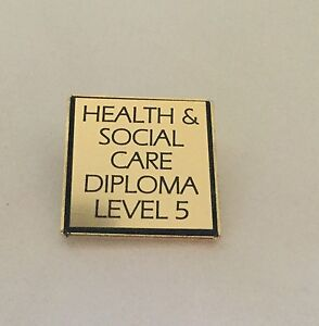 Health & Social Care Diploma Level Badge - Engraved with Level Required