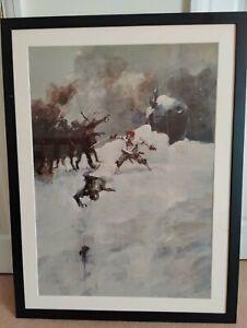 Ashley Wood custom framed poster art - four frames, rare posters
