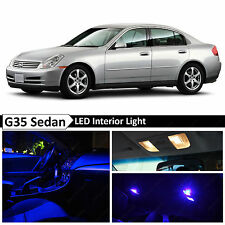 11x Blue LED Lights Interior Package  2003-2006 G35 Sedan