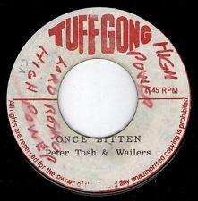 "PETER TOSH & Wailers-Once Bitten 7"" tuff gong (entendre) Reggae"