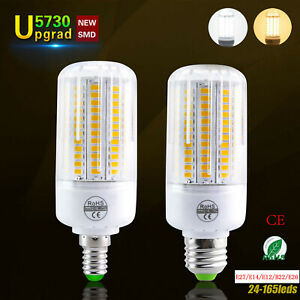 New Led Bulb E27 LED Corn Light B22 E14 E12 5730 SMD Energy White Lamp 25W-160W