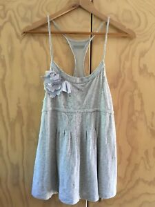 Lorna Jane Grey Cotton Blend Top With Thin Straps Size S