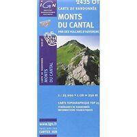Monts du Cantal PNR des Volcans d'Auvergne gps: IGN.2435OT by IGN Institut Géogr