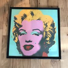 Marilyn #23 Green Andy Warhol Art Print Framed Glass Germany Foundation Stamped