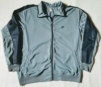 Nike - Full Zip Sweatshirt / Warm-Up Jacket - Men's XL - Gray & Blue - EUC