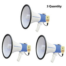 Pyle PMP59IR 50W Megaphone W/ Rechargeable Battery with Aux for iPod/MP3 (3 Qty)
