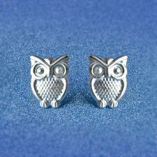 1 Pair Gilrs Korean Stylish Small Owl Earrings Silver Plated Ear Studs Gift HM