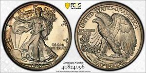 1942 50 cent half dollar proof PCGS PR65 beautiful !