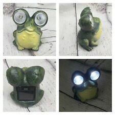 Solar-Powered Ceramic LED Garden Or Window Home Decor Garden Frog Figurine