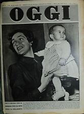 OGGI N°52/ 28/DIC/1950 * PER IL NATALE 1950 LA ONOREVOLE PUCCI HA DETTO ADDIO. .