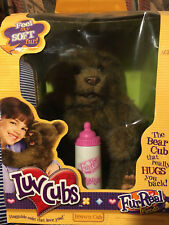 Fur Real Luv Cubs Brown Bear Cub Tiger Electronics Interactive Realistic NIB
