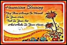 *Hawaiian Sunset Blessing* Made In Hawaii Metal Sign 8X12 Welcome Prayer Hula