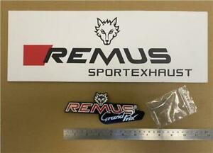 Remus Exhausts Revolution Grand Prix Rivet On Badge / Decal