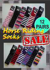 Comfort 12 Pairs Horse Riding Dressage Long Socks Only