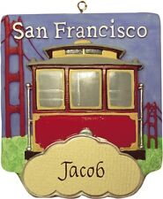 PERSONALIZED SAN FRANCISCO CABLE CAR ORNAMENT AND MAGNET JEANE'S THINGS